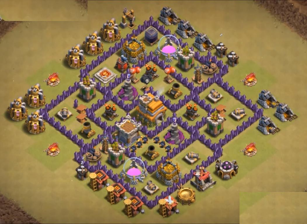 12 Best Th7 War Base Anti 3 Star 2020 New Clash Of Clans Clash Of Clans Game War