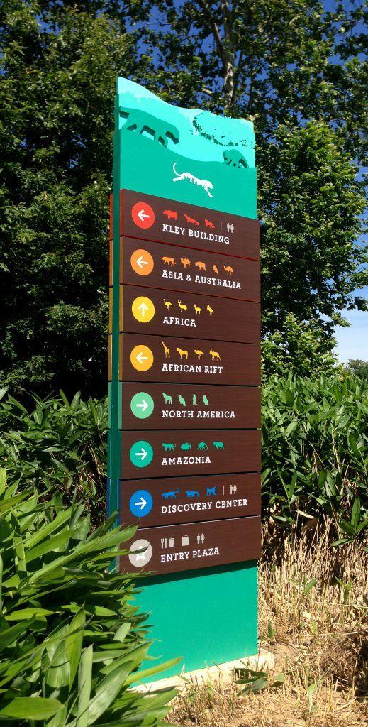 Mesker Park Zoo Botanic Garden Wayfinding Signage Sprout