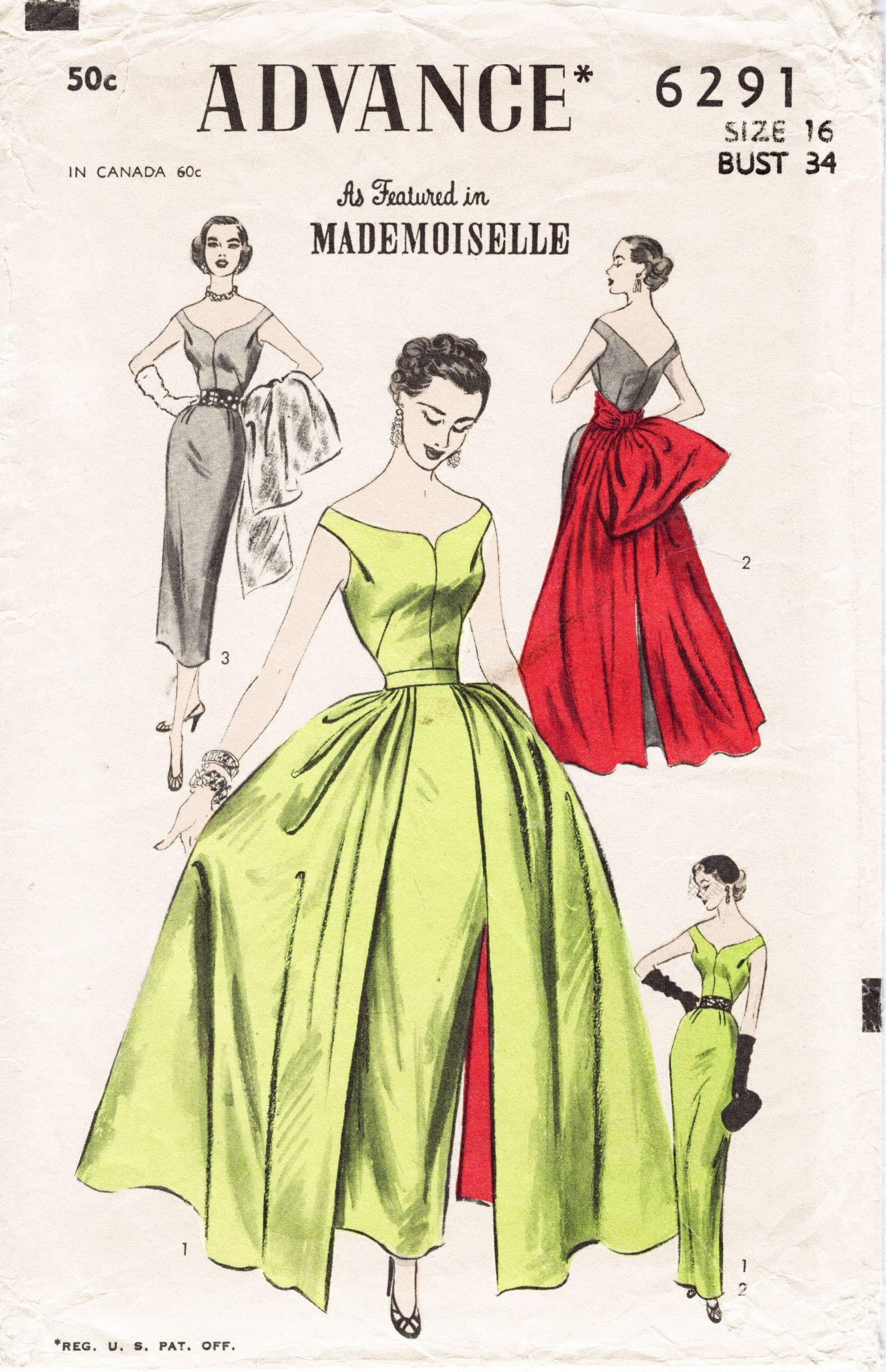 ca. 1952; Sheath Dress with Variations.