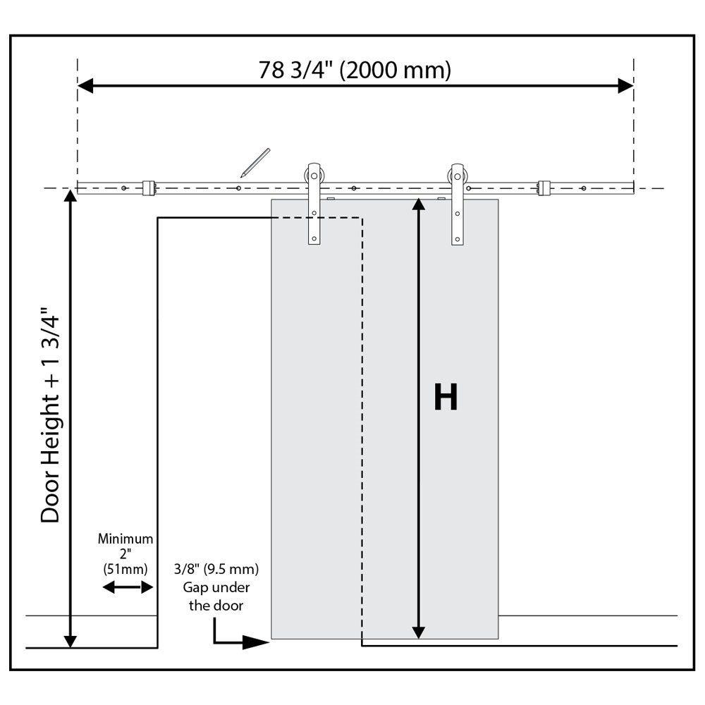 Standard Double Track Barn Door Hardware Kit Barn Door Hardware