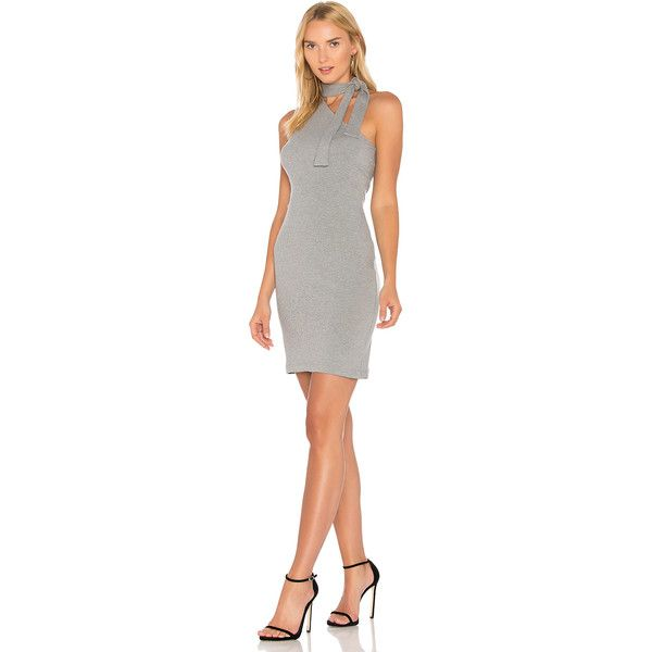1 State One Shoulder Tie Neck Dress 79 Liked On Polyvore