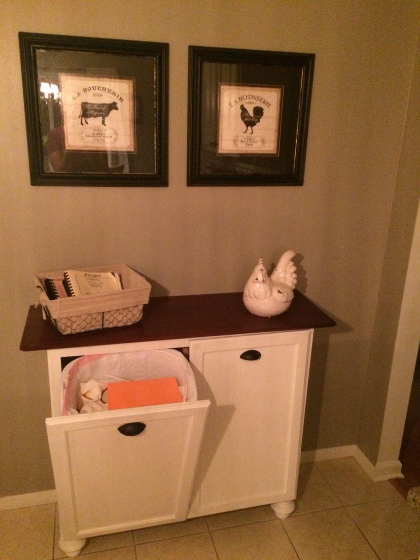 Diy Double Tilt Out Trash Cabinet Pic 2 Trash Can Cabinet Bathroom Trash Can Home Diy