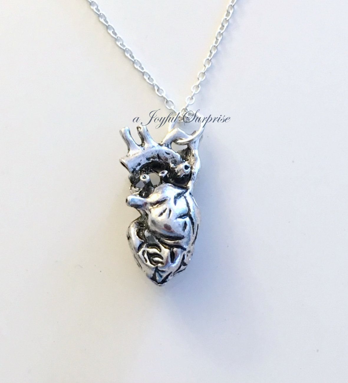 Human Heart Jewelry Anatomical Necklace Gift for Cardiac Nurse ...