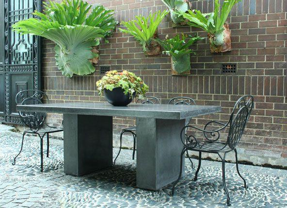 Lightweight Concrete Table, Fabulous Staghorn Ferns, Wonderful Stone Floors