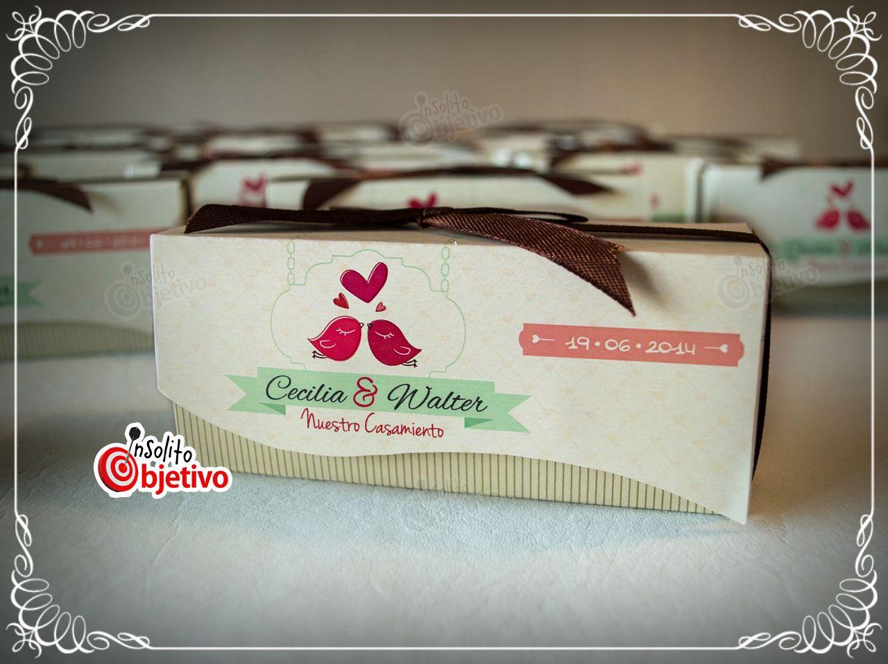 Souvenir para boda salero y pimentero con forma de pajaritos incluye packaging personalizado - Saleros originales ...