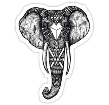 'Elephant Head' Sticker by nycdesigns