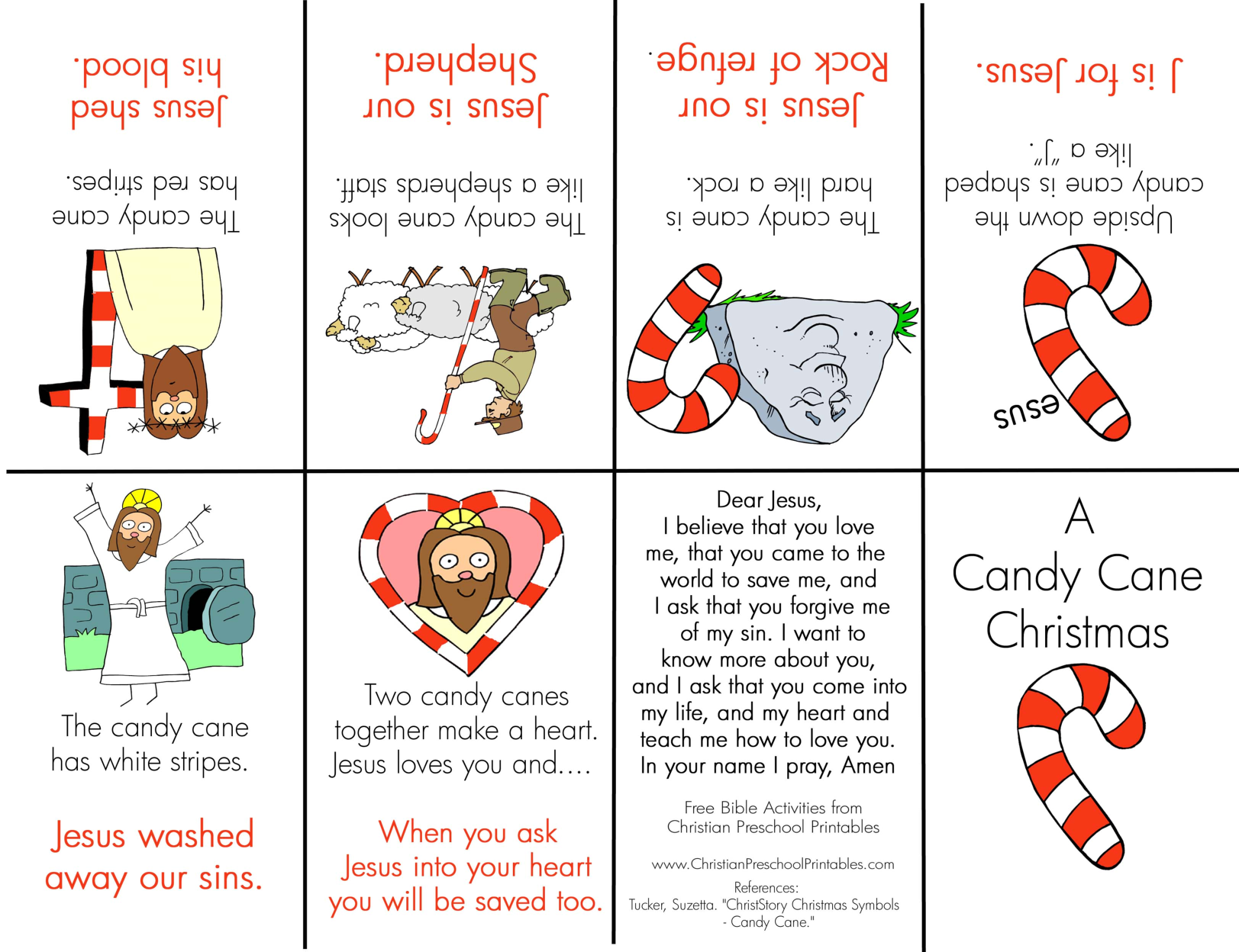 Candy Cane Mini Book Christian Preschool Printables