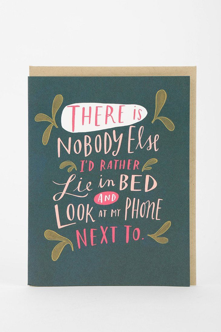 emily mcdowell only one i want to look at card  funny