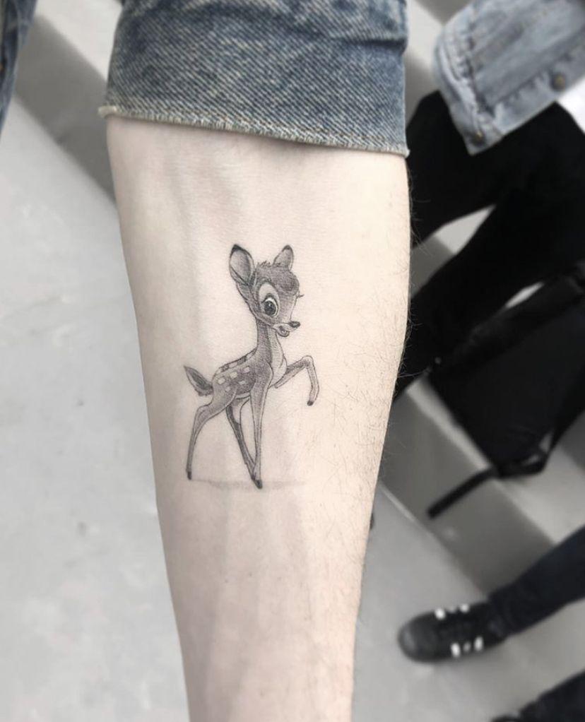 Dr woo bambi tattoo tattoos disney tattoos