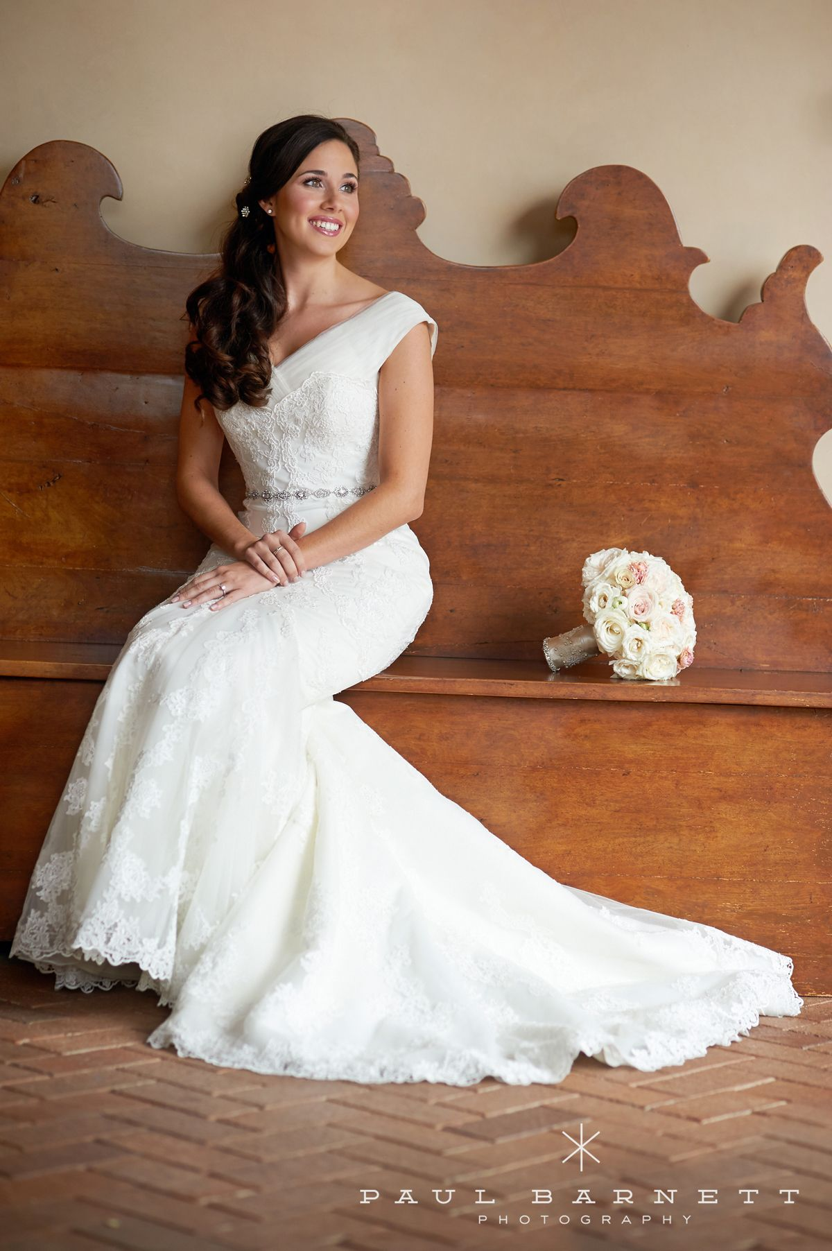 looking gorgeous in her mermaid lace gown   Brides ...