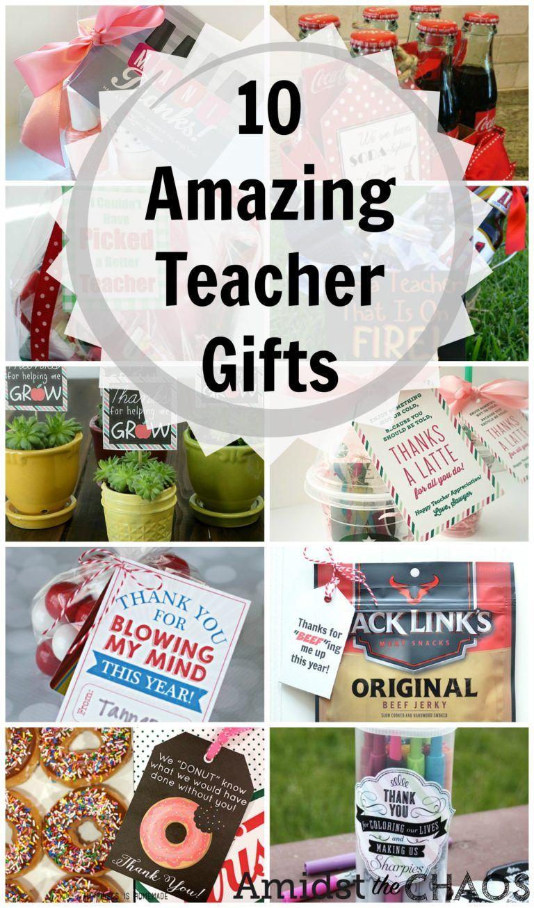Easy affordable teacher gift ideas amidst the chaos