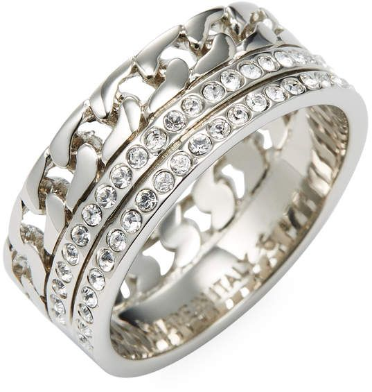 Vita Fede Catena Crystal Ring in Metallic Gold pXDXKpIBgN