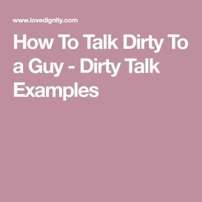 Sex talk to a guy