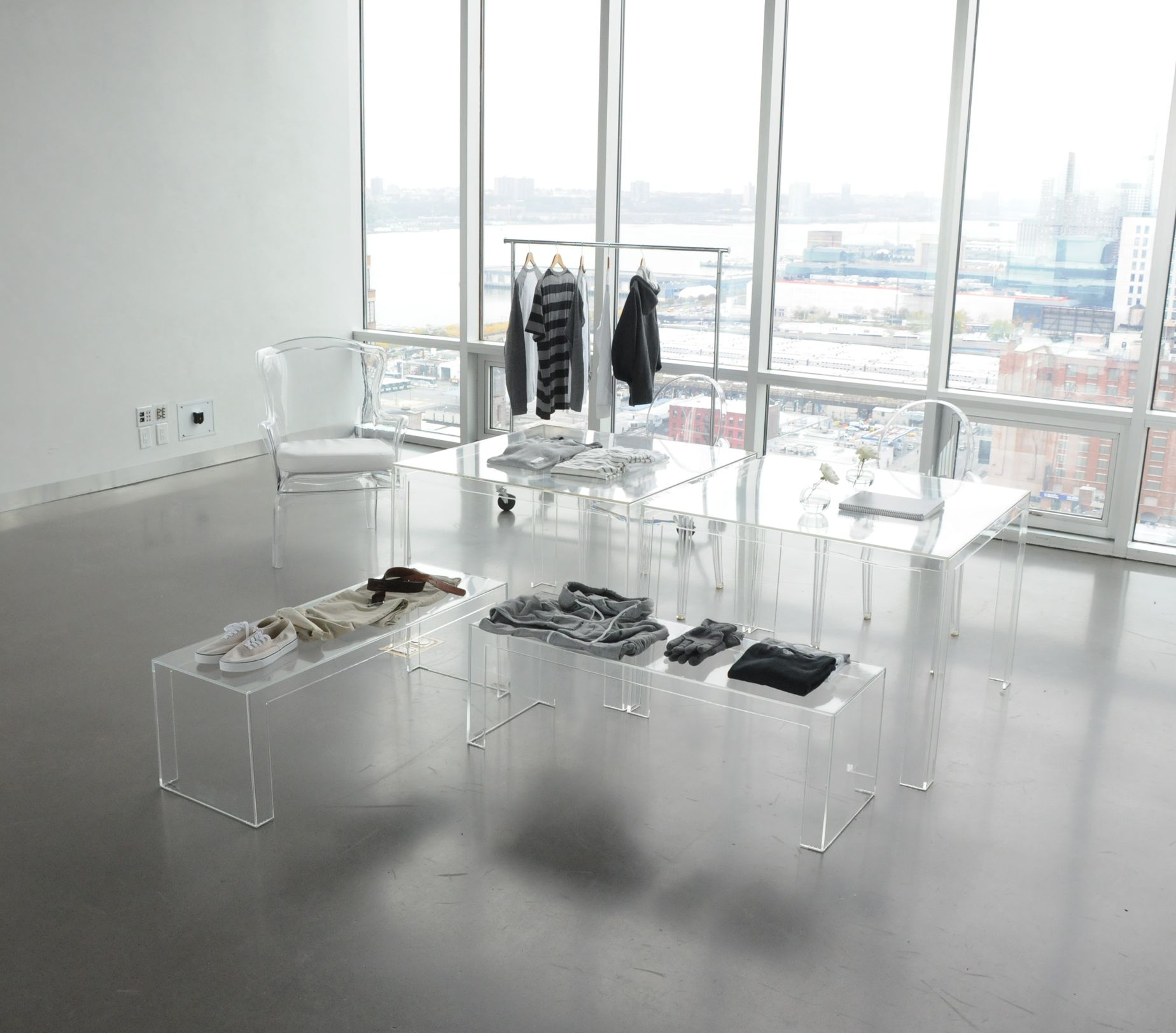invisible light table invisible coffee table tyler chair and