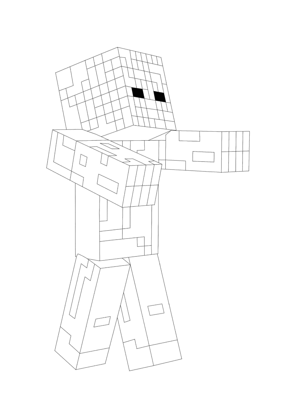 Minecraft Zombie Coloring Pages 2 Free Coloring Sheets 2021 In 2021 Free Coloring Sheets Minecraft Coloring Pages Coloring Pages