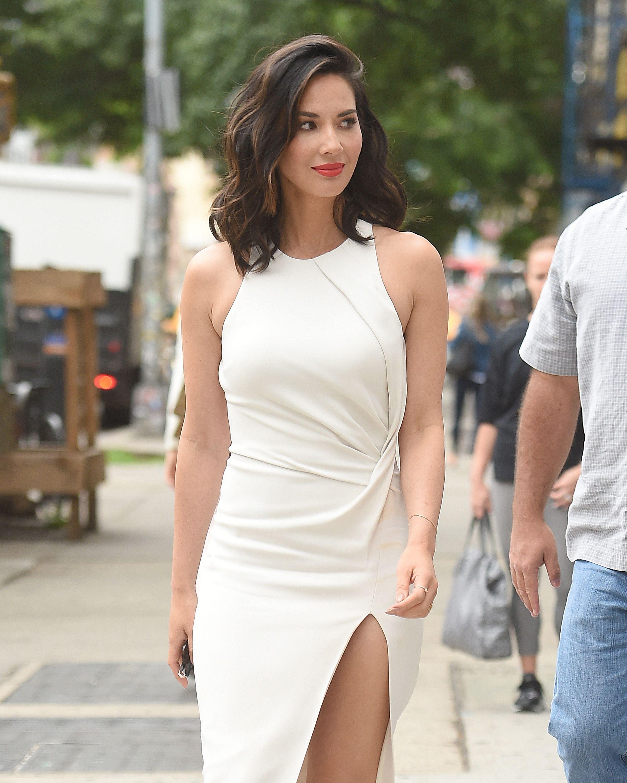 2fa72b1c0ee7 Olivia Munn #actress #celeb #celebrity #white #dress #style #fashion ...