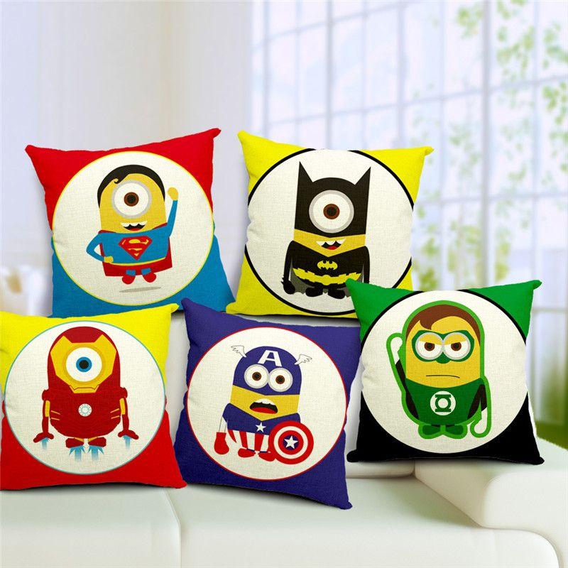 Colorful Cartoon Pillow Cushion Case