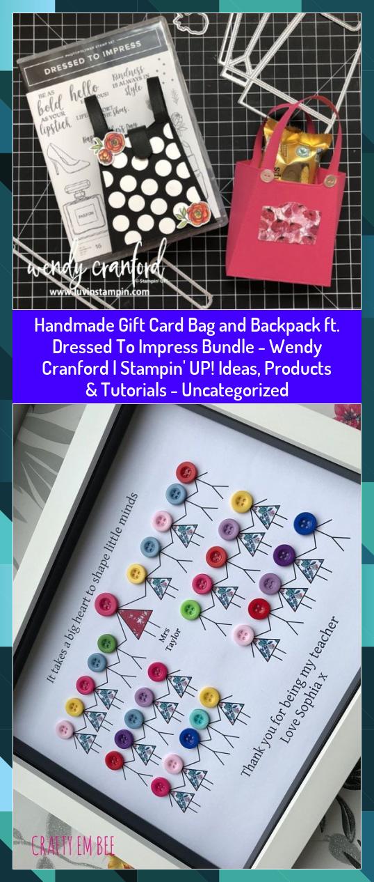 Handmade Gift Card Bag and Backpack ft. Dressed To Impress Bundle - Wendy Cranford   Stampin' UP! Ideas, Products & Tutorials - Uncategorized #Backpack #Bag #BUNDLE #CARD #Cranford #Dressed #Gift #Handmade #Ideas #Impress #Products #Stampin #tutorials #Wendy