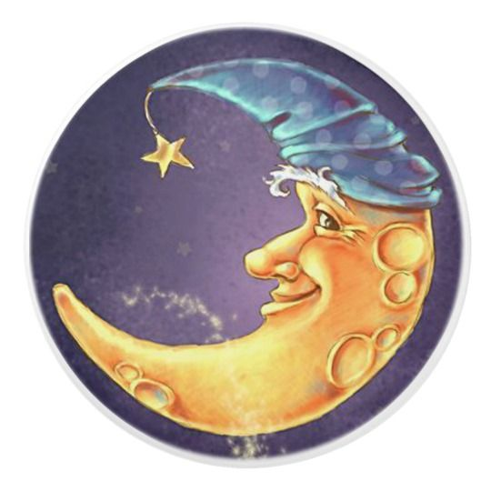 Moon Face Door or Drawer Pulls | Zazzle.com