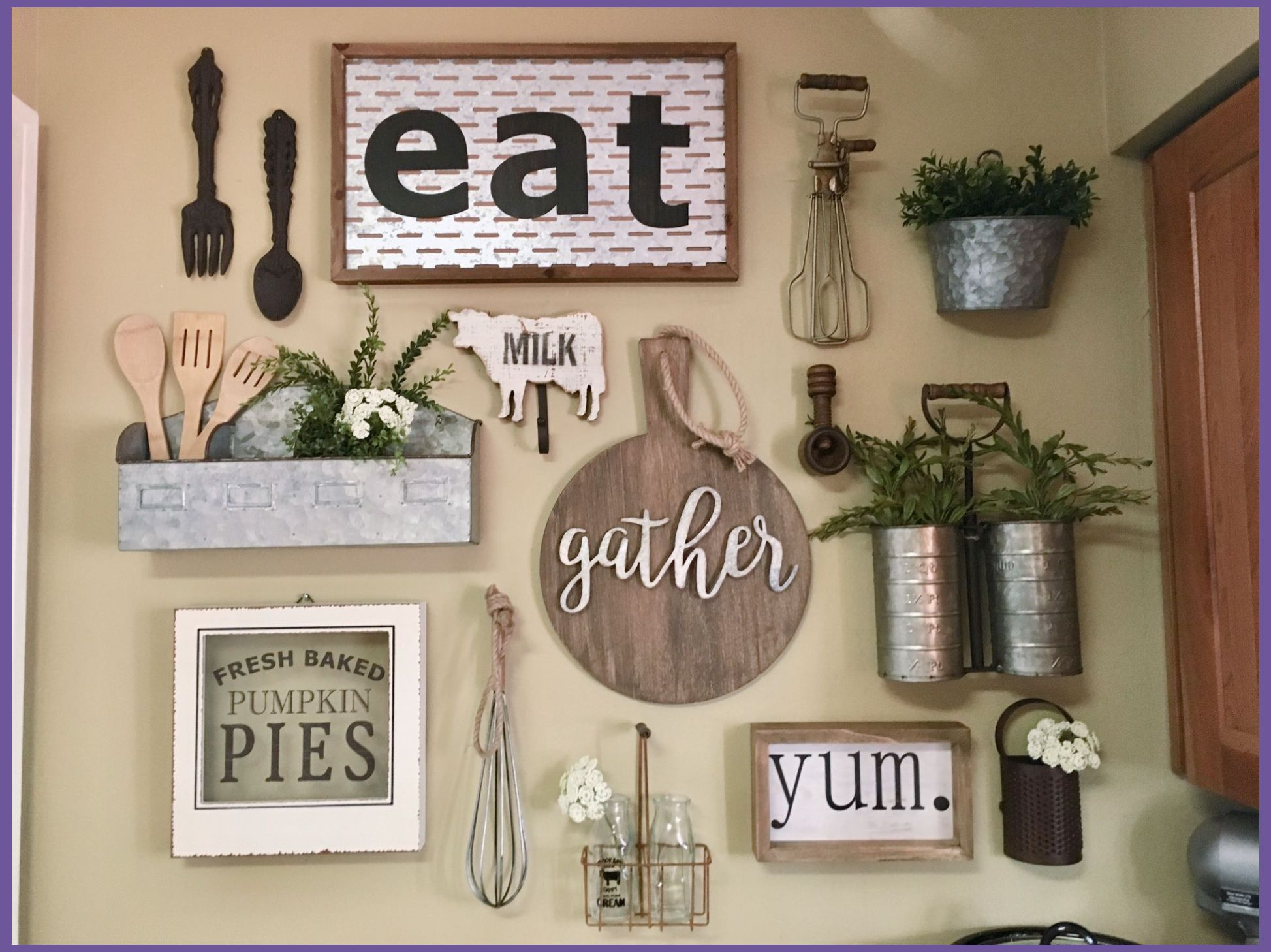 Decorating Tips For The Kitchen Kitchen Decor Tips In 2020 Kitchen Gallery Wall Dining Room Wall Decor Farmhouse Wall Decor