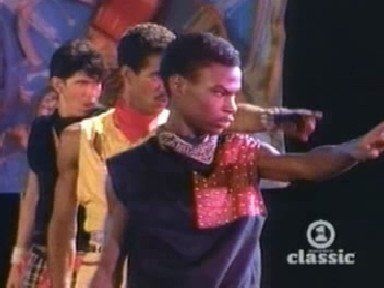 I feel for you by Chaka Khan. I didn't know the B'Boys were in music video's that I loved. I vaguely remember watching this video too! I know I saw Pop n' Taco in it and Shabba Doo I crushed on both of them pretty bad. It's funny that I just didn't realize they were the dancer's in Breakin'