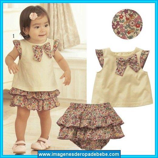 e385bf12bd8f3 Modelos de ropa para bebe niña Vestidos Modernos Para Niñas