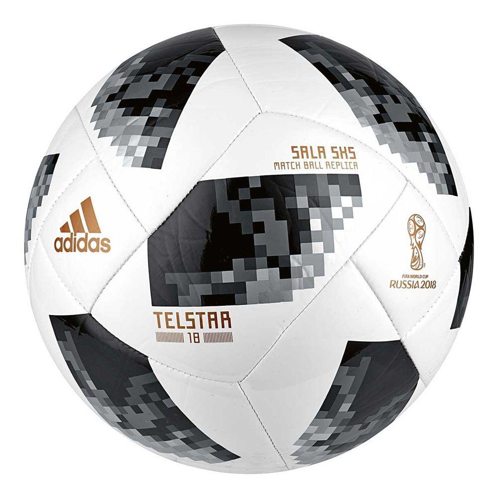 Adidas Telstar 2018 World Cup Sala 5x5 Soccer Ball White Black 4 Soccer Ball Soccer World Soccer