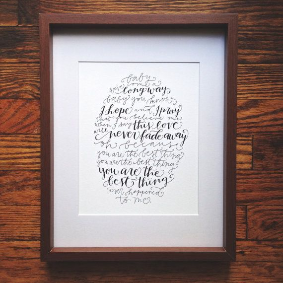 You Are The Best Thing Ray LaMontagne Vintage Heart Song Lyric Quote Print