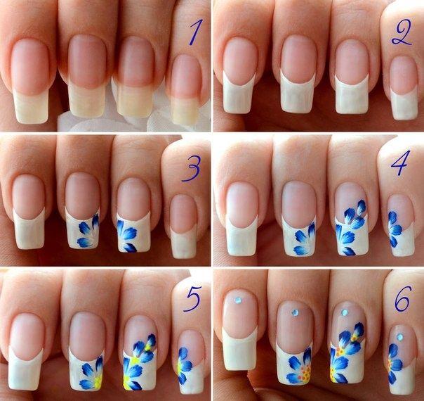 Flower nails tutorials design