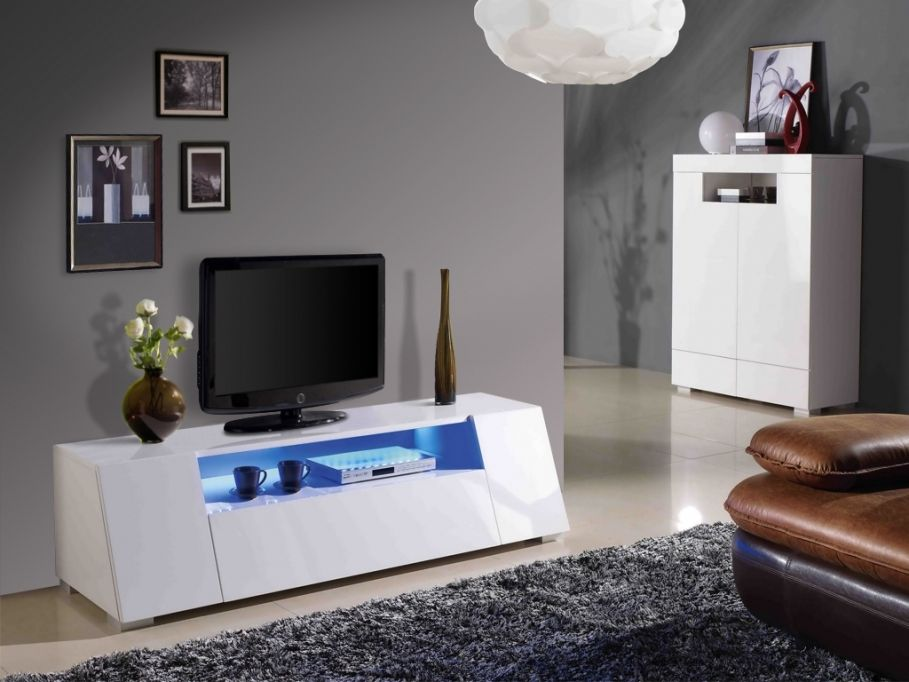 Meuble Tv Vente Unique Meuble Tv Cosmic Mdf Laque Blanc Leds Meuble Meuble Tv Mobilier De Salon