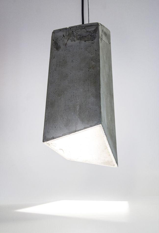 concrete hanging lamp: Our first series explores concrete