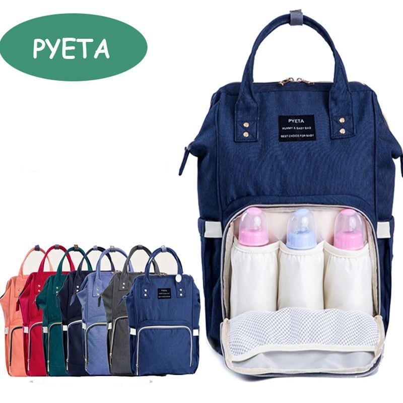 4ce14066f92a6 PYETA Fashion Mummy Maternity Nappy Bag Brand Large Capacity Baby Bag  Travel Backpack Desinger Nursing Bag