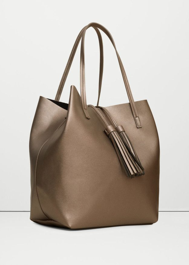 This perfect metallic tote bag to add a little glitz to your everyday  routine.   36 Handbags That Only Look Super Expensive 2c90fdf732