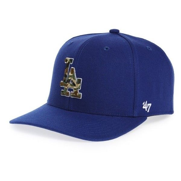 Women s  47 Brand Los Angeles Dodgers - Camouflage Baseball Cap ( 30) ❤  liked on Polyvore featuring accessories 08f50f69e