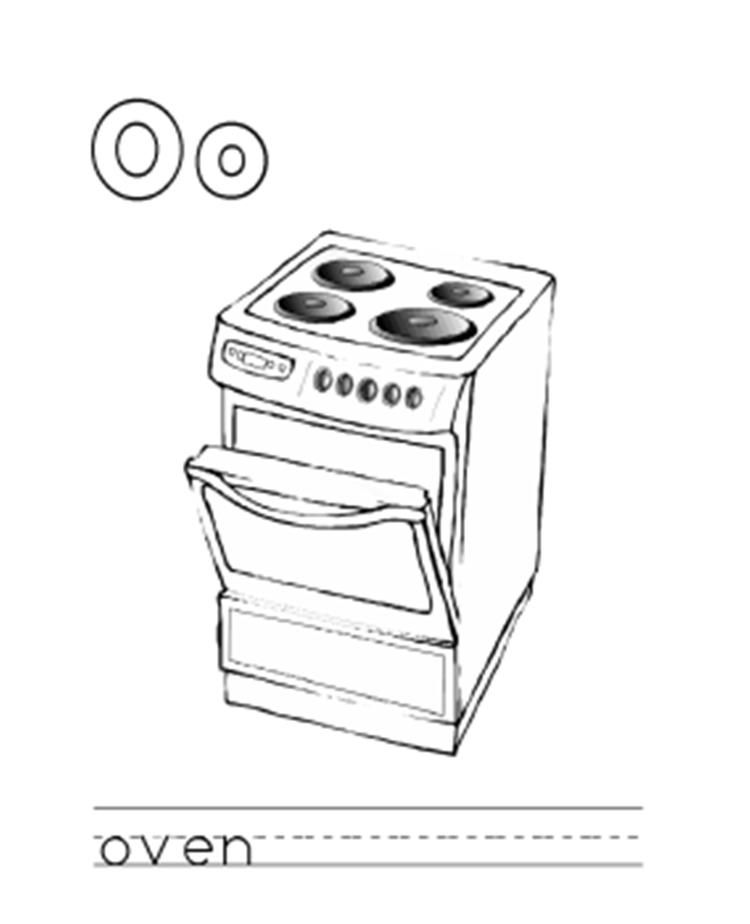 Oven Alphabet Coloring Pages Alphabet Coloring Pages Alphabet Coloring Coloring Pages