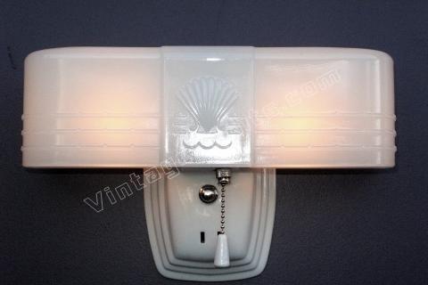 Beau Art Deco Bathroom Light Fixture | Antique Deco Lighting Fixture | Cottage