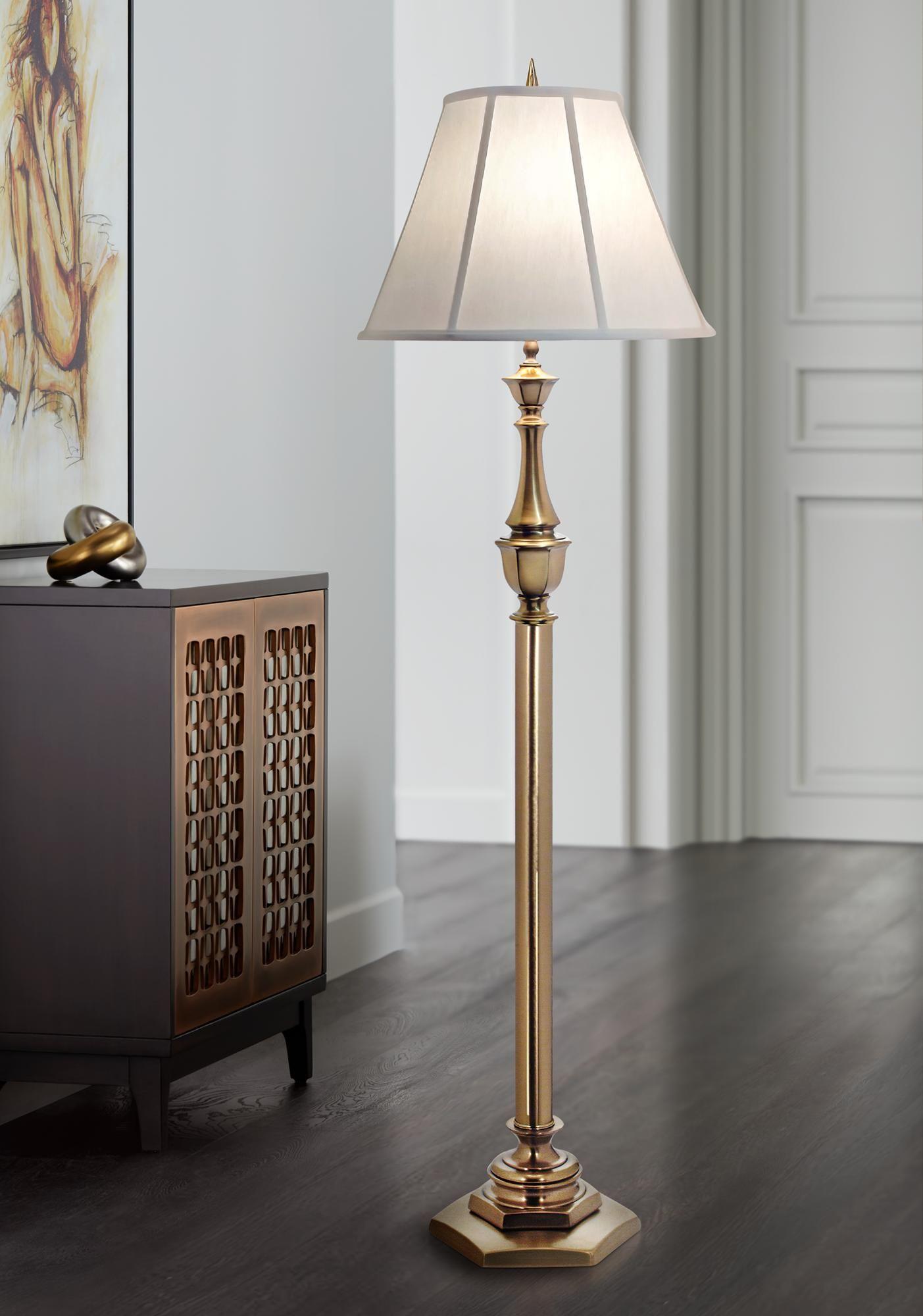 Stiffel Redondo Antique Brass Floor Lamp