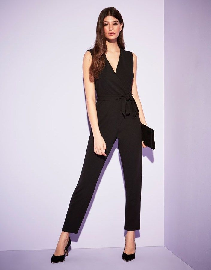 dca9d4624a3 Lipsy Sleeveless Wrap Jumpsuit