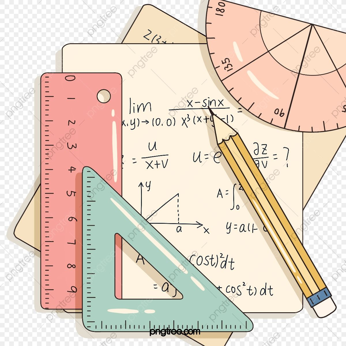 Hand Drawn Style Math Stationery Elements Math Clipart Mathematics Draft Png Transparent Clipart Image And Psd File For Free Download Math Clipart Math Wallpaper Math Photos