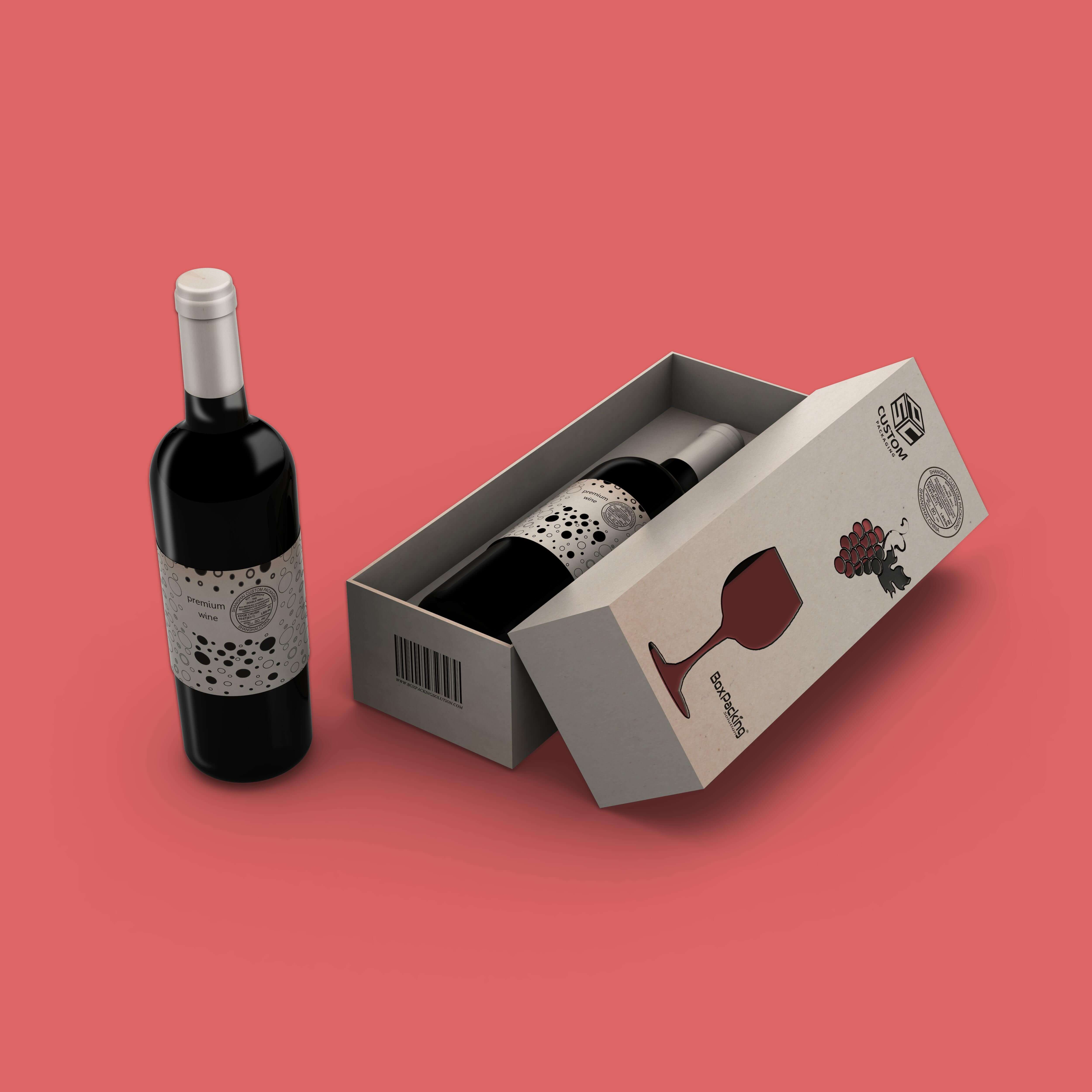 Download The Best Mock Up Services For Packaging Box Product Mock Up Services Wine Bag Mocking Wine Box