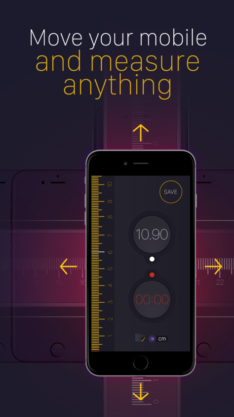 [iOS] Tape Measure PRO. (3.99 to Free) App, Best apps