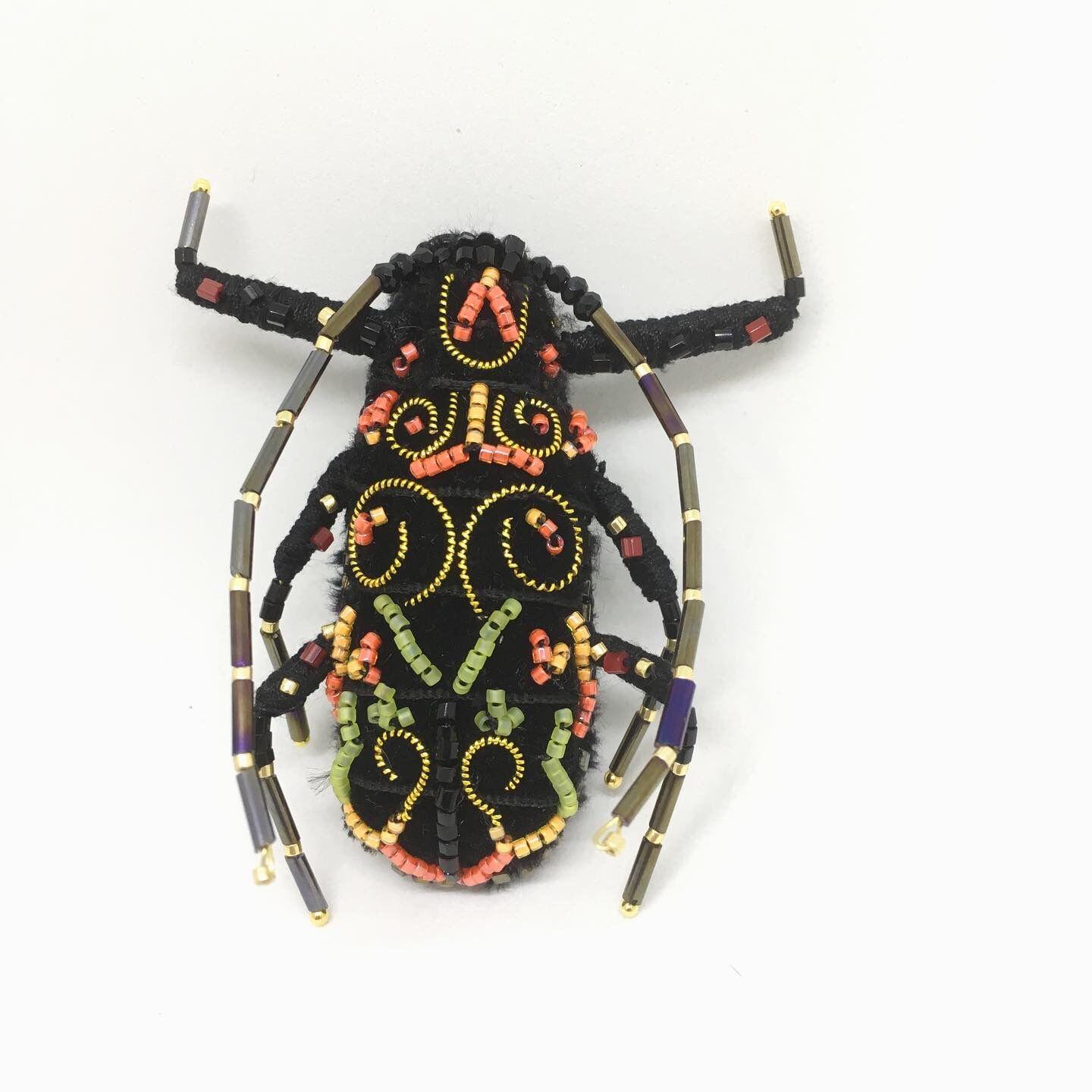 Flys embroidery brooches Insect brooch Goldwork handembroidery brooch Brooches for sister Couple brooches Christmas sisters present