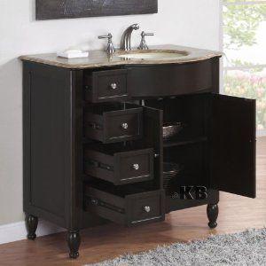 Vanity Off Center Sink Cabinet Home Makeover Pinterest Vanities Sinks And Single Vanities