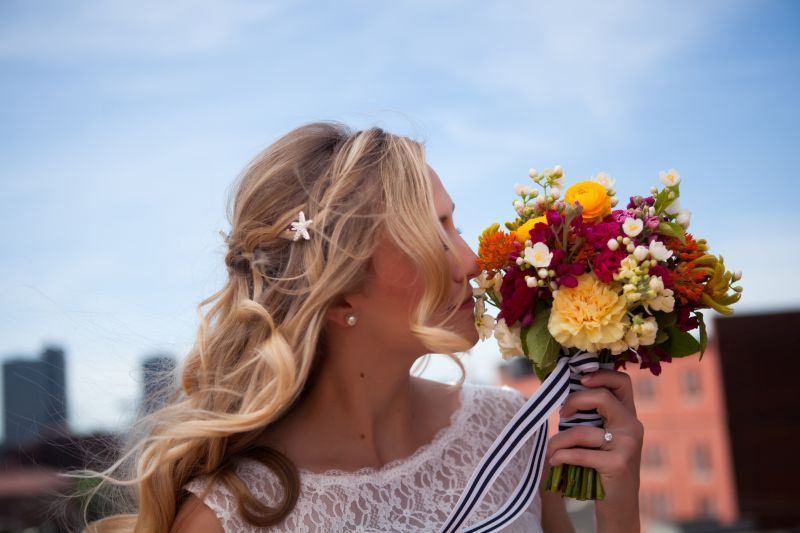 Nautical 'I Dos': Bright + Bold Color + Stripes - www.theperfectpalette.com - Color Ideas for Weddings + Parties