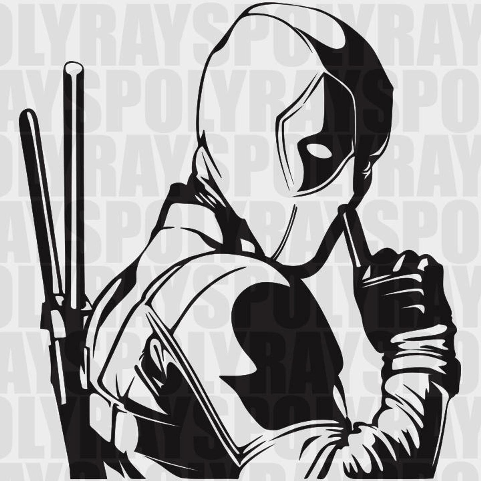 Deadpool SVG Hero EPS Deadpool Stencil Vector Clipart