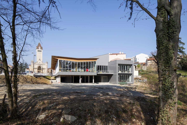 Michel Gautier Architecte gautier+conquet architectes · médiathèque et auditorium de chaponost