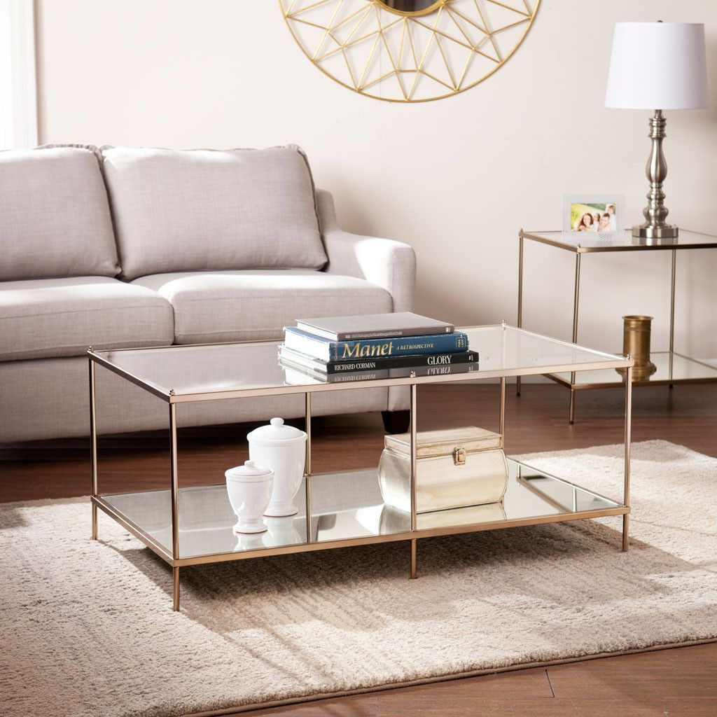 Knoxville Cocktail Table Coffee Table With Shelf Coffee Table Rectangle Glass Coffee Table [ 1024 x 1024 Pixel ]