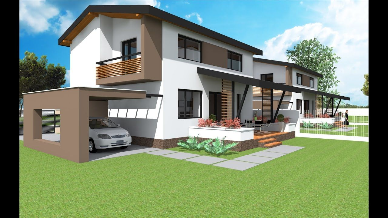 Small two story house design . Model NC 24. 70.55 sq.m