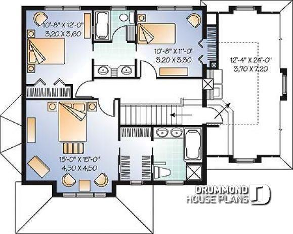 jack and jill bathroom | House plans, Victorian house ...