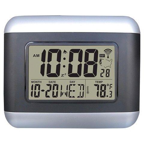 Atomic Radio Control Lcd Wall Clock 20 Target Clock Radio Control Lcd